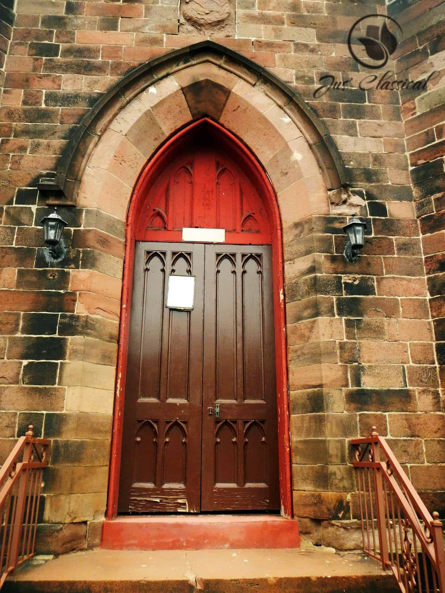 image of a church door.