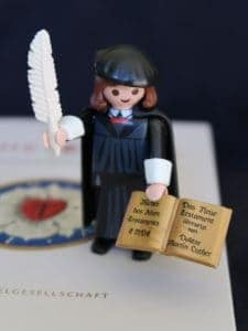 Image of playmobile toy of Martin Luther