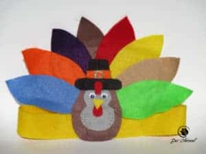 Image of a turkey headband for remembering Thanksgiving