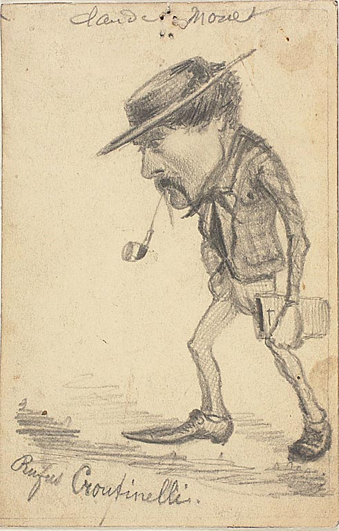 Caricature of Henri  Cassinelli - Rufus Croutinelli by Claude Monet