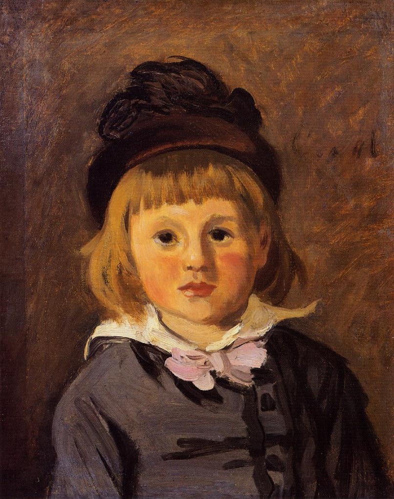 Portrait of Jean Monet Wearing a Hat with a Pom Pom by Claude Monet