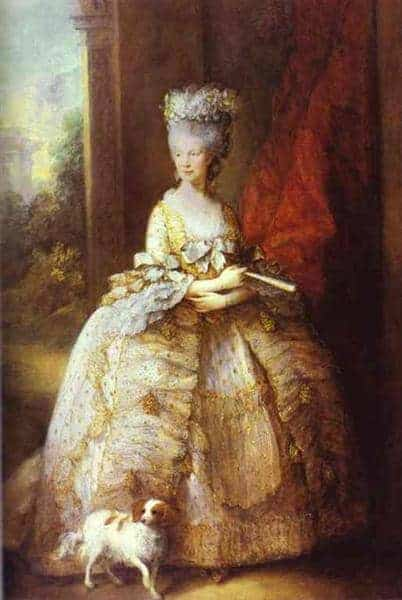 Portrait of Queen Charlotte by Thomas Gainsborough
