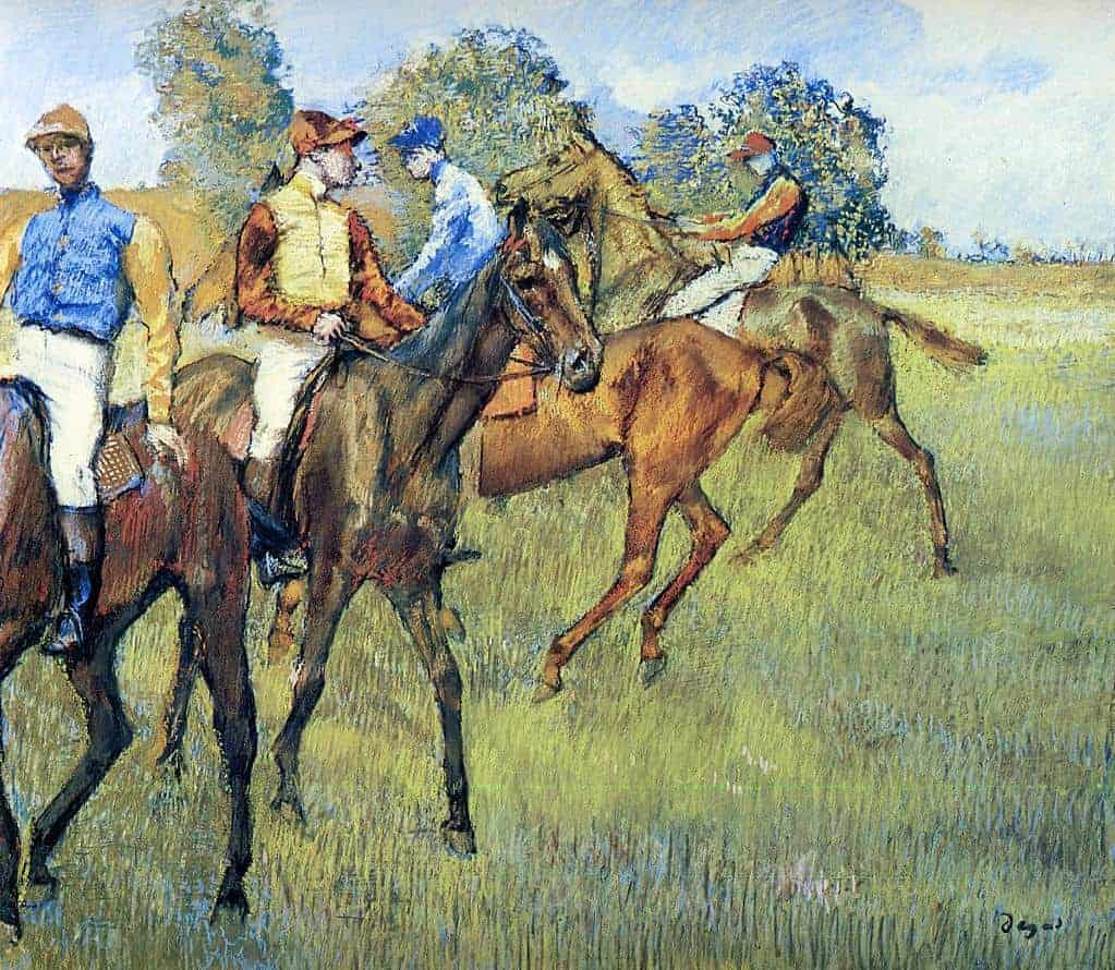 Race Horses by Edgar Degas