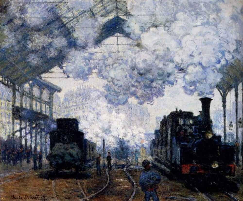 Saint Lazare Station Exterior by Claude Monet