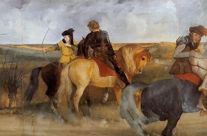 Scene of War in the Middle Ages - edited by Edgar Degas