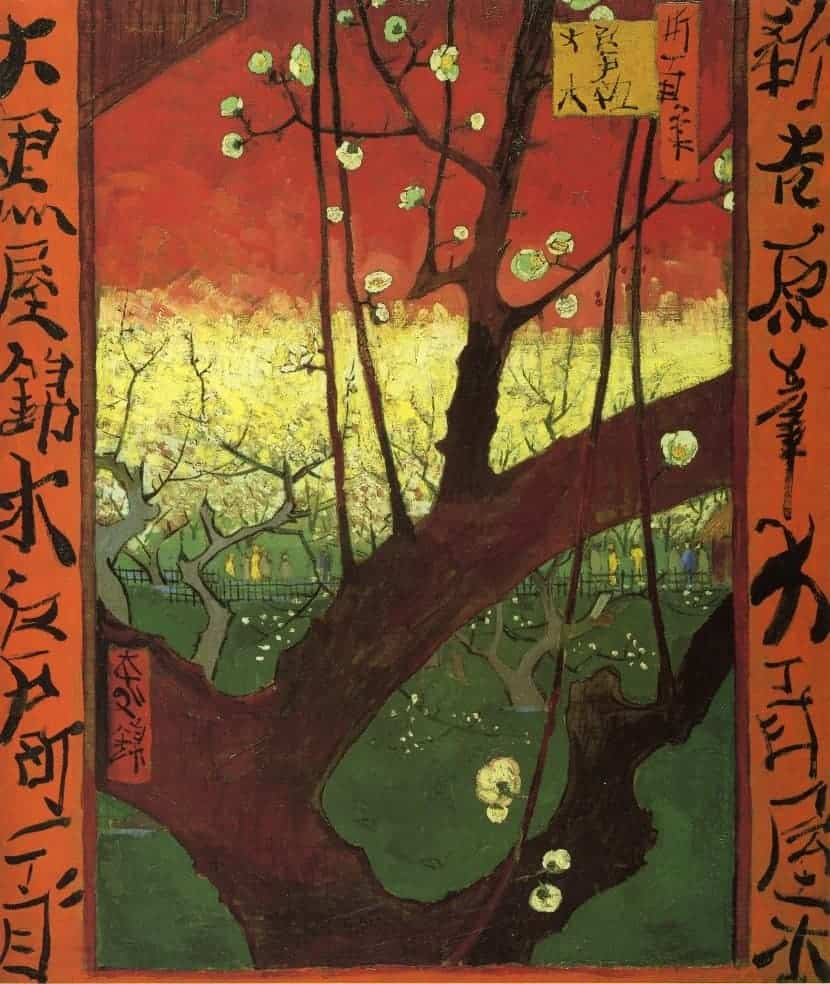 Japonaiserie after Hiroshige by Vincent van Gogh