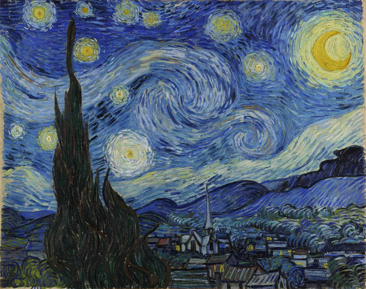 The Starry Night in Vincent van Gogh Biography for Kids