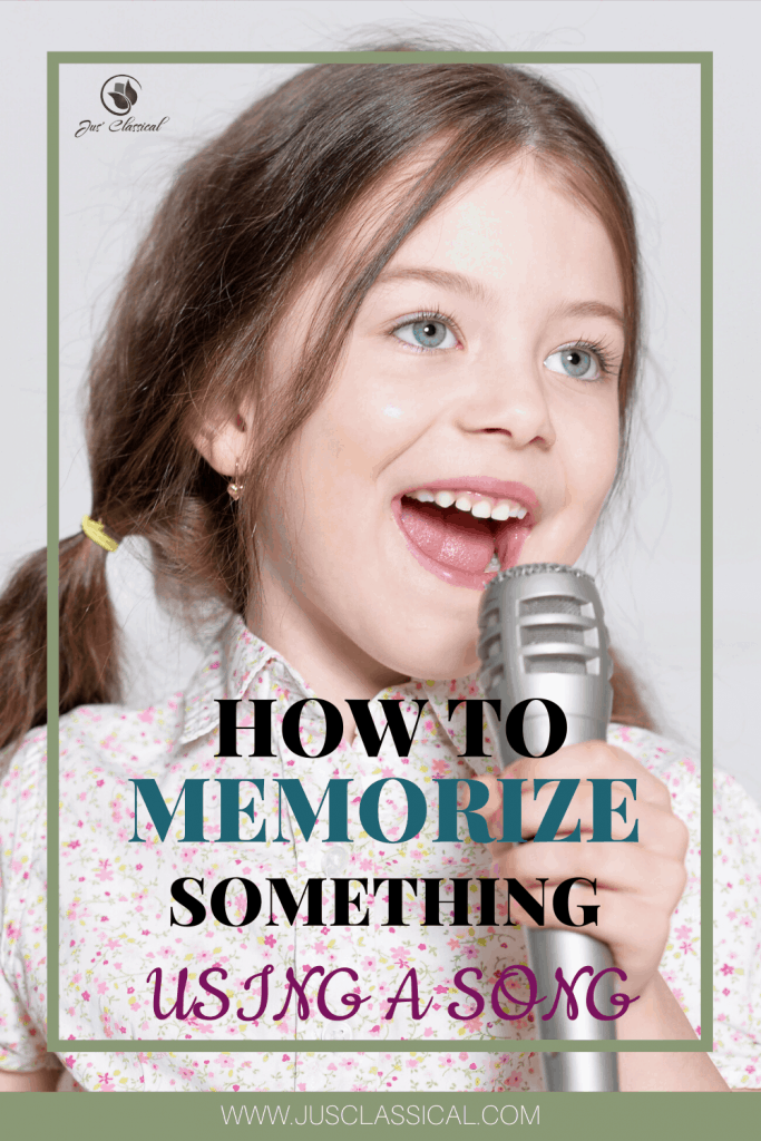 How to memorize something using a song