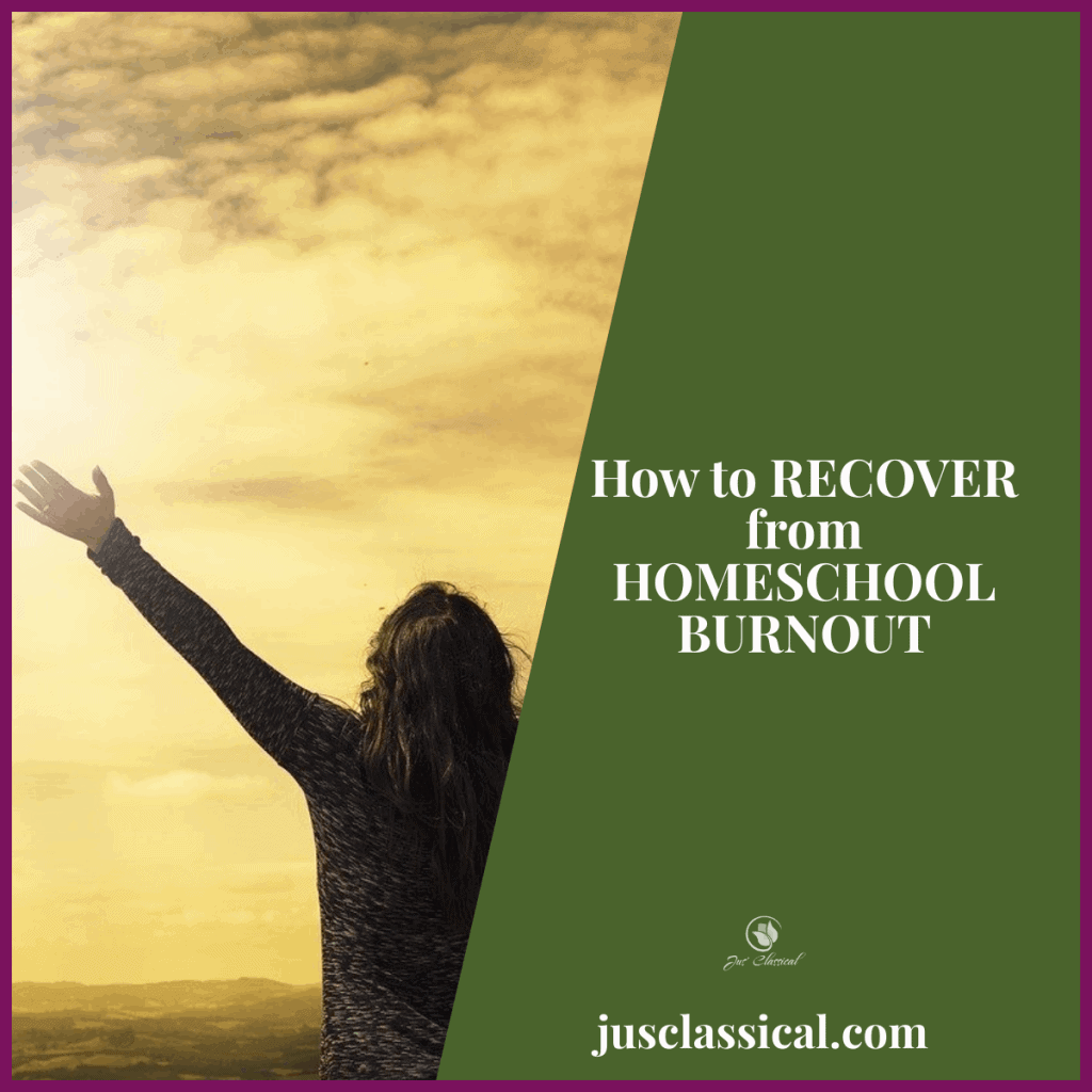 How to Recover from Homeschool Burnout FB post