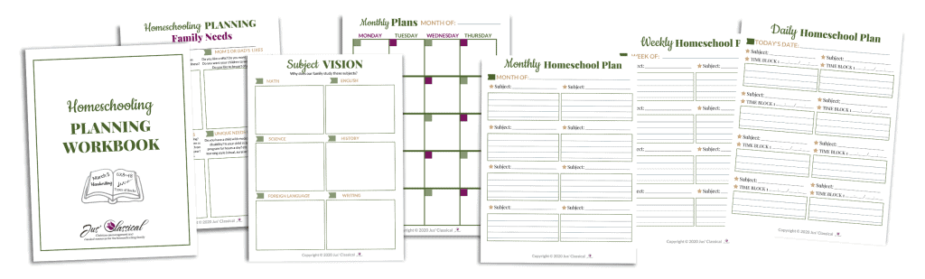 Images of Homeschool Planner Horizontal Promo Mock-Up