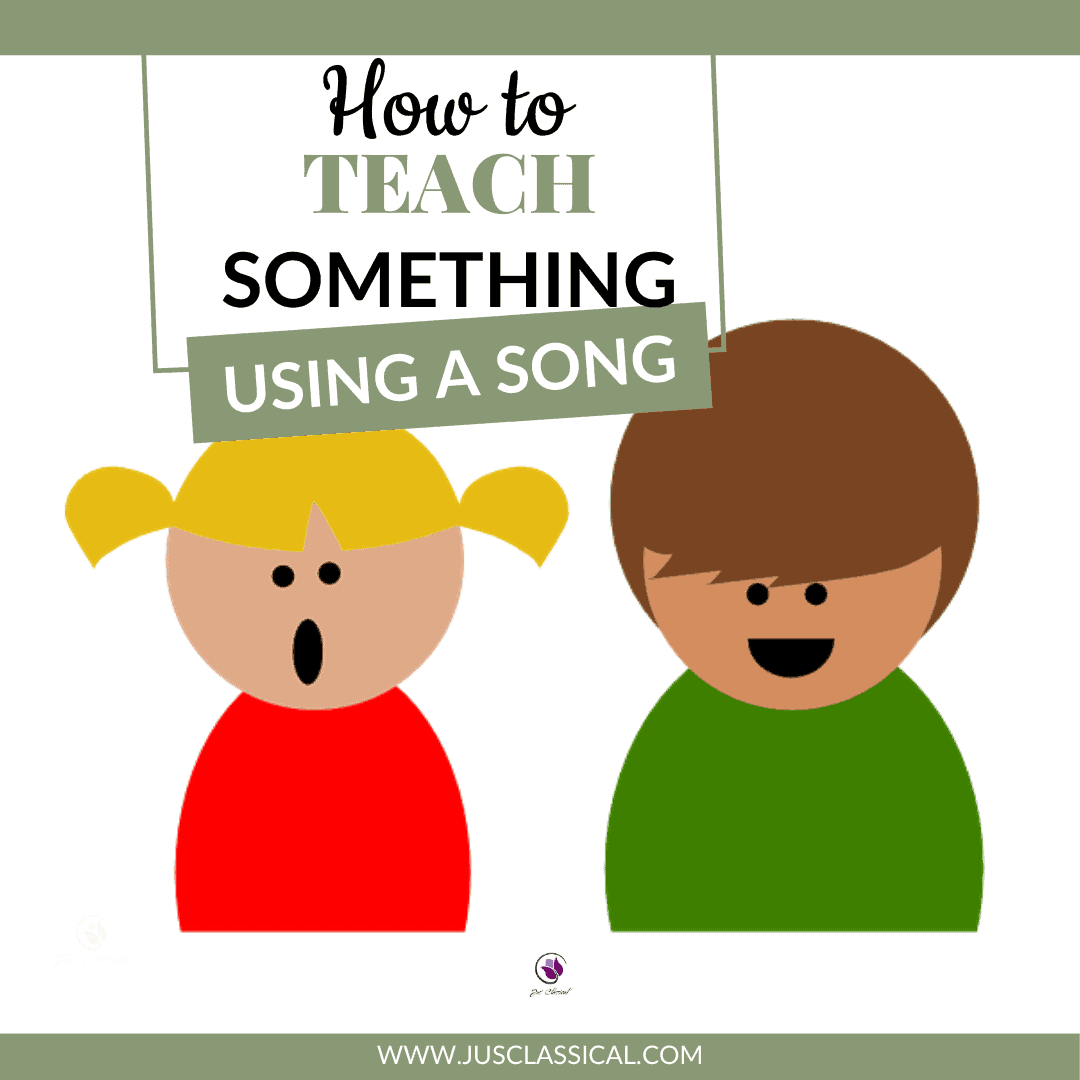 How to Teach Something Using a Song - two children singing