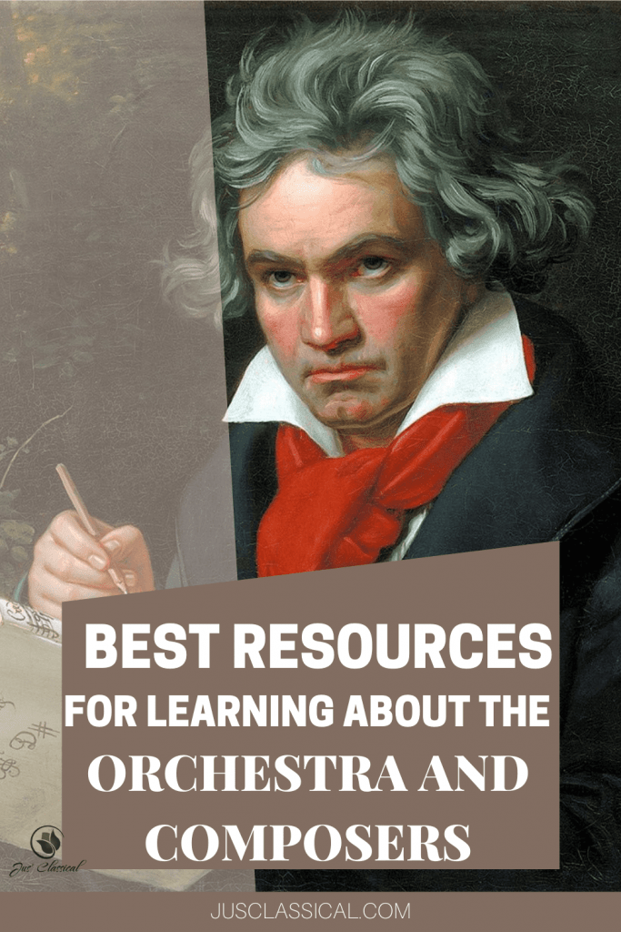 Picture of Ludwig van Beethoven to show the best resources for studying the orchestra and composers
